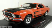 Nex 1/18 Scale 12516 1969 Ford Mustang Boss 302 Orange Diecast model car