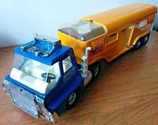 Vintage Structo Ertl Toys Vista Dome Horse Van blue / yellow NICE!