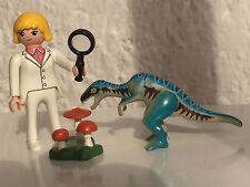 PLAYMOBIL SUPER 4 Agente Dallas de Tecnopolis con Dinosaurio - b
