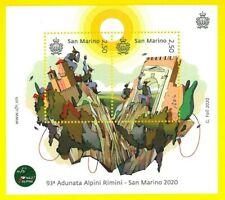 SAN MARINO - 2020 Foglietto 93° ADUNATA ALPINI RIMINI - BF NUOVO - New Sheet