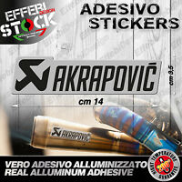 Adesivo / Sticker AKRAPOVIC SILVER  HONDA SUZUKI KAWASAKI KTM  200°gradi