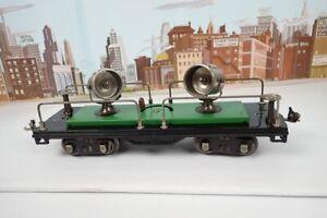 Vintage Prewar Lionel Standard Gauge No.520 Green Nickel Trim Floodlight Car