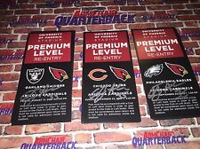 Anthony Sherman autographed Arizona Cardinals Premium Level Pass vs Bears