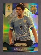 2014 Panini Prizm World Cup Luis Suarez Silver Refractor Uruguay Mint Barcelona