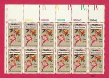 1975 Christmas Issue - Scott #1580 - Plate Block Strip of 12