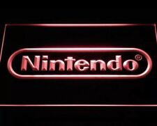 """NINTENDO VIDEO GAME ARCADE LED NEON LIGHT SIGNS - 12"""" x 8"""" Man Cave Game Room"""