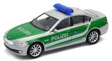 BMW 535i Polizei Einsatzfahrzeug silber / grün Modellauto ca. 12cm / 1:37 WELLY