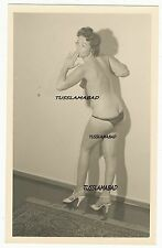 Portrait hübsche Frau Model Nackt Pose Brust Busen Po Postkarte TOP Erotik