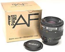 * Nikon AF NIKKOR 35-70mm f/3.3-4.5 zoom lens w/Box