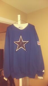 Dallas Cowboys Throwback Crewneck Script Starter Sweatshirt Large New! NWOT