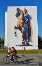 """Mural Lg Photos of Germany """"The Melting Superman"""" Signed #'d by Jost Houk"""