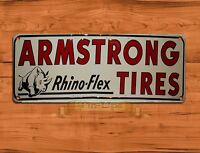 """Armstrong Tires"" Garage Advertisement Rustic Wall Decor TIN SIGN"