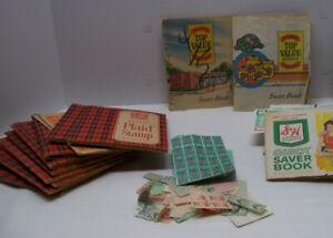 Vintage Saver Stamps Books S&H Green Top Value MacDonald Plaid