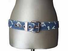 New Authentic D&G Dolce & Gabanna Denim Belt Size: 110/95