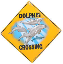 Dolphin Crossing Aluminium Road Sign Wildlife Ocean Gate Fence Wall New