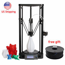 Anycubic 3D Printer Kit Kossel Pulley Big Printed Size DIY Delta + PLA US ship