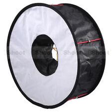 "Migliorata 18""Easy-fold Macro Ring Speedlight Flash Diffusore Softbox Riflettore"