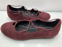 Abeo Women's Red Burgundy Comfort Flats Shoes Size 7.5 Beautiful Great Condition