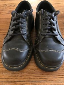 Dr Martens Wingtip Cap Toe 6 Hole Black Shoes UK 5 US 7.5 - 8