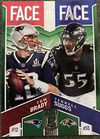 2019 PANINI ELITE TOM BRADY/TERRELL SUGGS FACE TO FACE CARD!