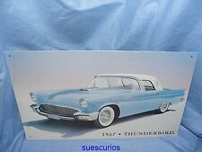 Metal Advertising Car Garage Sign 1957 Thunderbird Classic Car Tin Sign