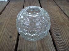 Vintage Homco Clear Glass Honeycomb Hair Receiver Sawtooth Edge Vanity USA