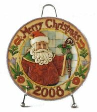 Jim Shore Heartwood Creek 2008 Dated Santa Merry Christmas Decorative Plate with