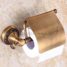 Antique Brass Art Tissue Box Rack Wall Mounted Bathroom Toilet Paper Roll Holder