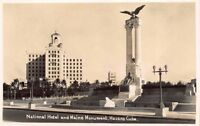 Real Photo Postcard National Hotel and Maine Monument in Havana, Cuba~120832