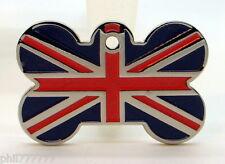 Union Jack Bandera de Gran Bretaña Nacional ~ ~ gran etiquetas de identificación del animal doméstico