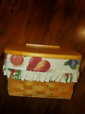 New Listinglongaberger recipe basket with liner and wood lid 1998