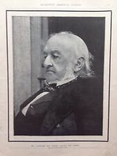 Mr Gladstone Just Before Leaving For Cannes, 1898 Antique Print