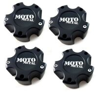 4 Moto Metal Matte Black Wheel Center Hub Caps 5x5.5 5x139.7 5x150 5x135 MO961