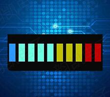2PCS Colourful Led Bargraph Light Display 10 Segment Red Green Blue Yellow