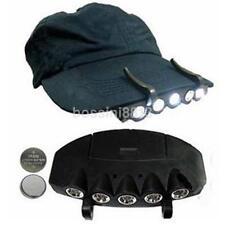5LED Cap Hat Brim Clip Lamp Head Light Headlight Headlamp Camping Hiking Fishing