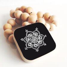 NEU ♥ Dekokette Ornament schwarz weiß Kette Holz Holzperlen Scandi Boho Style