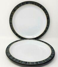 Denby Jet Stripes 2 x 8.75 Inch Salad Or Dessert Plate First Quality