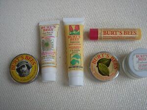 Burt's Bees Cuticle Cream, salve, day cream, lip balm, cleansing cream, & foot