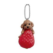 Bandai Gashapon Anicolla Series Wanko Dog Parlor Swing Strawberry Toy Poodle