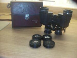Tasco Binoculars 7X-15X35 Binoculars Zoom Zip 101Z Coated Optics In Case + caps