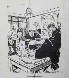 Gaston Jacquement (20th) Board Of Comics Limoges Bayard Martine And Zozo