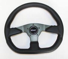 """EZ E Z Go ST Golf Cart Grant Black Steering Wheel 13 3/4 x 11 3/4"""" black spokes"""