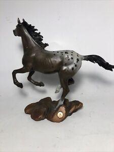 The Franklin Mint Bronze Collection Appaloosa Horse Sculpture Figurine Figure