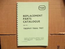 TRIUMPH TROPHY TRAIL TR5T PARTS BOOK FOR 1973  MODELS