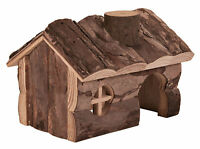 Hendrik House Natural Wooden Home for Gerbils Mice & Hamsters 15cm