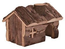 Hendrik Haus Natürliches Holz Zuhause für Rennmäuse Mäuse & Hamster 15cm