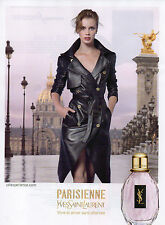 Publicité Advertising 2013 Parfum YVES SAINT LAURENT  PARISIENNE