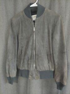 Vintage Deerskin Trading Post Suede Leather Bomber Jacket Sz 36
