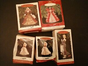 Barbie hallmark keepsake ornaments