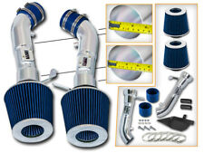 BCP BLUE Heat Shield Cold Air Intake For 2008-2013 G37 Coupe 3.7 V6